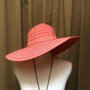 Coral scala floppy hat
